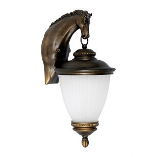 Edit Stable Outdoor Hanging Lantern Wall Light - Brass