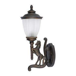 Edit Stable Right Outdoor Lantern Wall Light - Brass