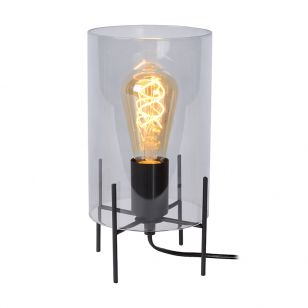 Lucide Steffie Table Lamp - Grey Glass