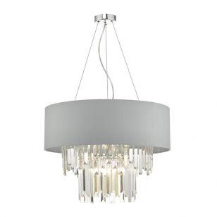 Dar Halle Ceiling Pendant Light - Grey