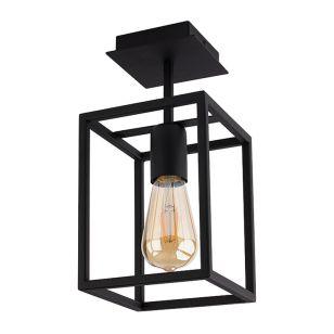 Edit Crate Semi-Flush Ceiling Light - Black