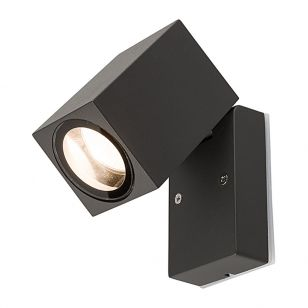 Edit Primm Outdoor Wall Mounted Spotlight - Dark Grey