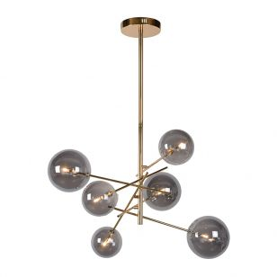 Lucide Alara 6 Arm Ceiling Pendant Light - Gold