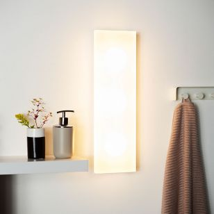 Lucide Winx Large LED Flush Wall Light - Opal
