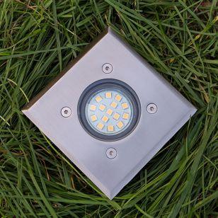 Edit Quad Ground Light - Stainless Steel
