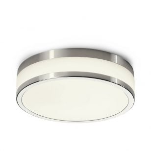 Edit Malakka LED Flush Ceiling Light - Chrome