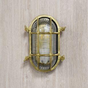 Edit Coastal Board Outdoor Flush Wall Light - Brass