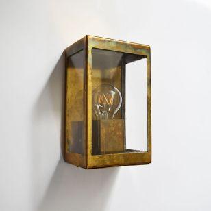 Edit Coastal Cabin Half Lantern Outdoor Wall Light - Brass