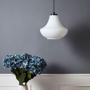 Edit Savoy 25 Glass Ceiling Pendant Light - White