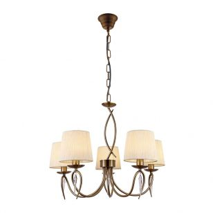 Edit Blenheim 5 Arm Ceiling Pendant Light - Brass