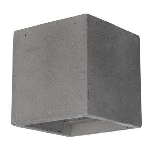 Edit Cast Up & Down Concrete Wall Light - Grey