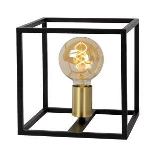 Lucide Ruben Table Lamp - Black & Gold