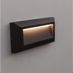 Lutec Helena Down LED Outdoor Surface Brick Light - Dark Grey