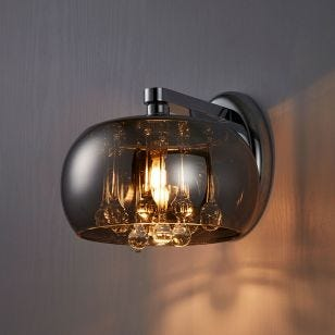 Edit Belgravia Glass Wall Light - Crystal