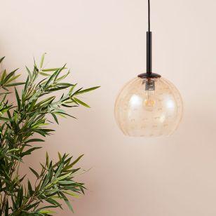 Edit Fleck Glass Ceiling Pendant Light - Amber