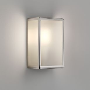 Astro Homefield Half Lantern Outdoor Wall Light with Microwave Sensor - Polished Nickel