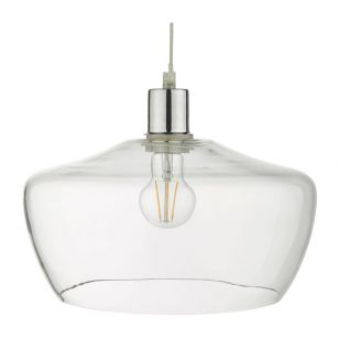 Dar Fidella Glass Ceiling Pendant Shade - Clear