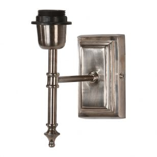 Edit Classic Wall Light with Plug - Bracket Only - Antique Silver