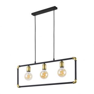 Edit Pipeline 3 Light Bar Ceiling Pendant - Black
