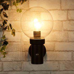 Edit Optic Outdoor Wall Light with Dusk to Dawn Sensor - Black