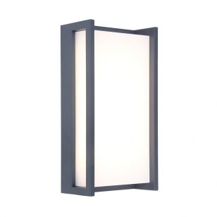 Qubo LED Outdoor Flush Wall Light - Dark Grey