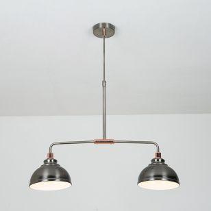 Edit Saloon 2 Light Bar Ceiling Pendant - Antique Chrome