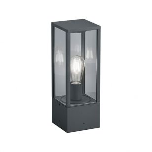 Edit Lantern Outdoor Pedestal Light - Anthracite