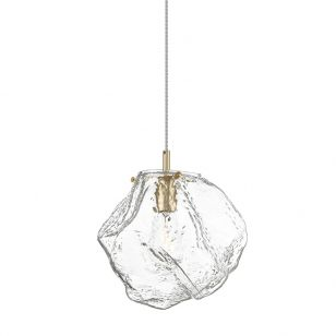 Edit Ice Glass Ceiling Pendant Light - Matt Gold