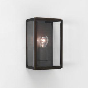 Astro Homefield 160 Half Lantern Outdoor Wall Light - Painted Bronze