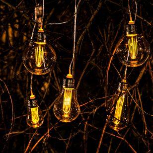 365 Filament Solar LED String Lights - 7 Lights