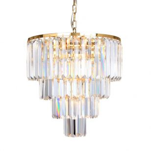 Edit Grand Glass Chandelier - Gold