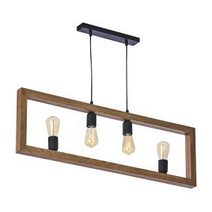 Edit Tetra 4 Light Bar Ceiling Pendant - Black