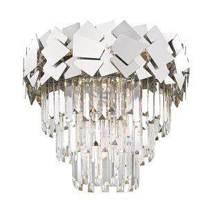 Edit Jazz Flush Ceiling Light - Silver