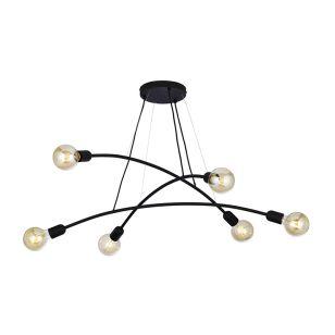 Edit Helix 6 Light Ceiling Pendant - Black