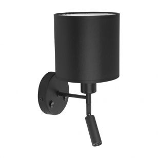 Edit Cabin Wall Light with LED Reading Light - Black