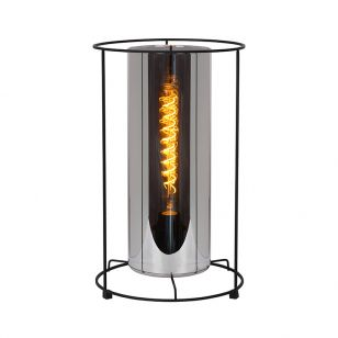 Lucide Dounia Large Glass Table Lamp - Smoked