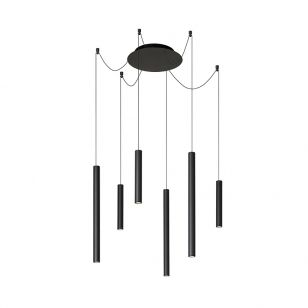 Lucide Lorenz 6 Arm LED Ceiling Pendant Light - Black