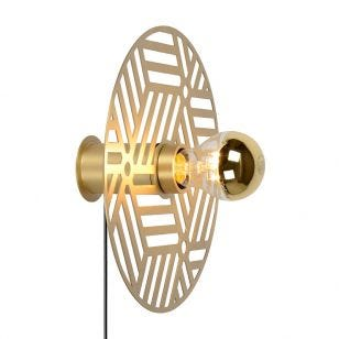 Lucide Olenna Wall Light with Plug - Gold