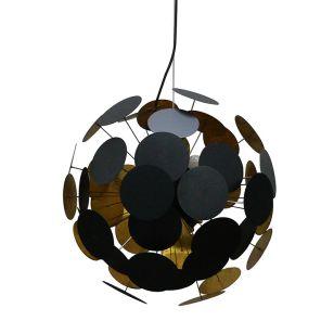 Edit Feature Ceiling Pendant Light - Black & Gold