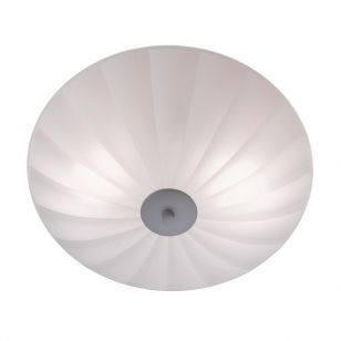 Sirocco 35 Glass Flush Ceiling Light - White