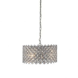 Lindo Crystal Ceiling Pendant Light - Chrome