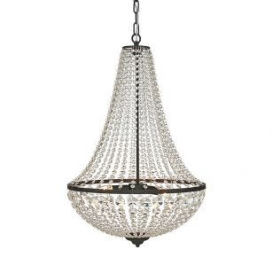 Granso Grand Crystal Chandelier - Matt Black