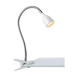 Tulip Clip On LED Desk Lamp - White