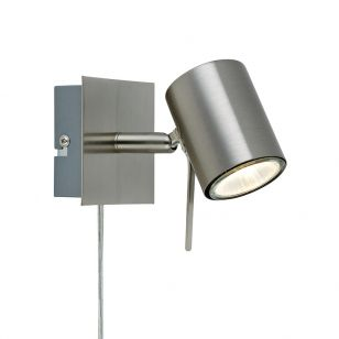 Hyssna LED Wall Spotlight with Plug - Steel