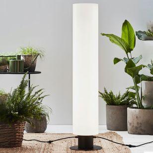 Garden 24V Cylinder 110 LED Outdoor Floor Lamp - Black & White