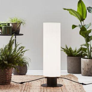Garden 24V Cylinder 70 LED Outdoor Floor Lamp - Black & White