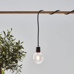 Garden 24V LED Pendant Lamp Holder - Black