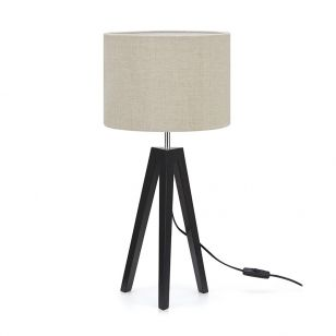 Lunden Table Lamp - Black & Beige