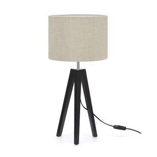 Lunden Table Lamp - Black & Beige