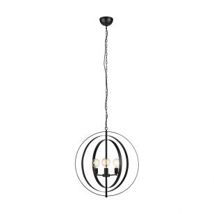 Orbit 3 Arm Ceiling Pendant Light - Black
